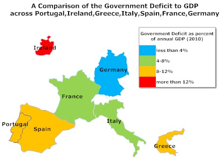european government deficit to gdp